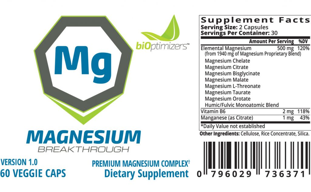 magnesium breakthrough ingredients